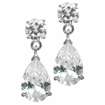 O's 7.5 TCW Cubic Zirconia Pear Drop Earrings