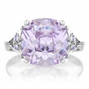Jennifer's 10 ct Cusion Cut Lavender CZ Engagement Ring