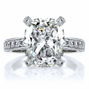 Jen's 5 ct Sterling Silver and Cushion Cut CZ Engagement Ring