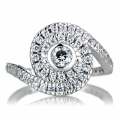 Ann's Sterling Silver and CZ Spiral Engagement Ring
