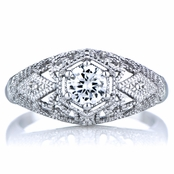 Gemma's 0.5 ct CZ and Silver Vintage Style Wedding Ring
