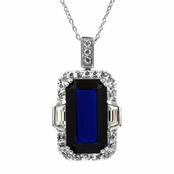 Victoria's 19 ct Simulated Sapphire Fancy Necklace