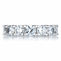 Champagne Taste CZ Eternity Band Ring - Round Cut