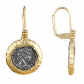 Chantrea's Gold Tone Coin Dangle Earrings