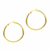 Charline's Clip-on Hoop Earrings - Gold, 35mm