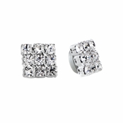 Charlotte's 7mm Square Rhinestone Stud Magnetic Earrings