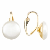 Chenda's Gold 6mm Simulated Pearl Clip-on Earrings