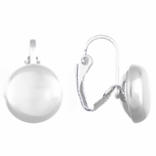 Chenda's Silvertone 6mm Imitation Pearl Clip-on Earrings