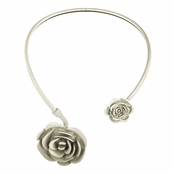 Chevelle's White Double Flower Collar Necklace
