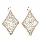 Chiara's Gold Diamond Cut out Earrings