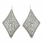 Chiara's Silver Diamond Cut out Earrings