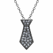 Christian's Petite Grey Tie Necklace