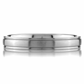 Christian's Plain Wedding Band - Stainless Steel