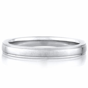 Christian's Plain Stainless Steel Wedding Band