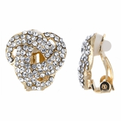 Clementine's Gold Tone Love Knot Clip On Earrings