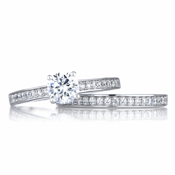 Constance's Cubic Zirconia Wedding Ring Set