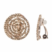 Cordelia's Champagne and Gold Tone Spiral Clip On Earrings