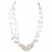 Cormia's Floating Freshwater Cultured Pearl Necklace