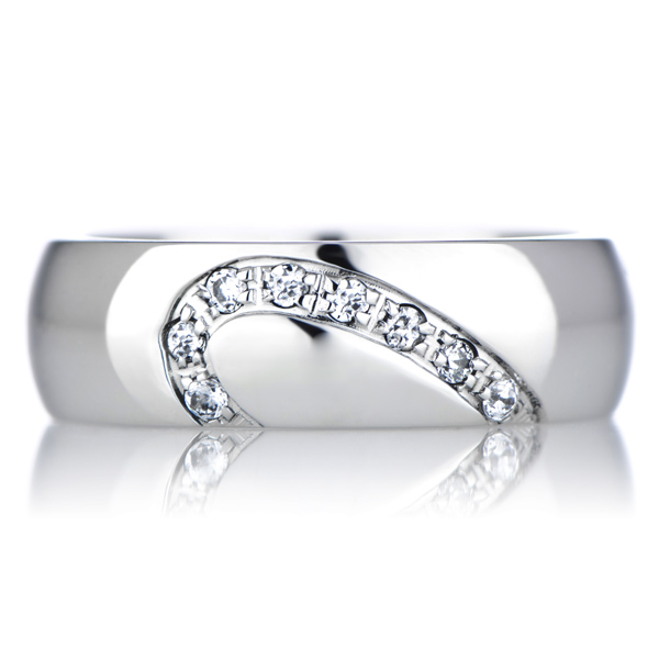 couples 39 heart wedding band cubic zirconia