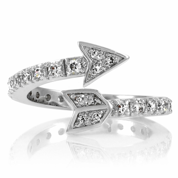 Cupid's Wrapped CZ Arrow Ring