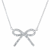 CZ Bow Necklace