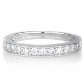 Marinel's Simulated Diamond Sterling Silver Ring Guard