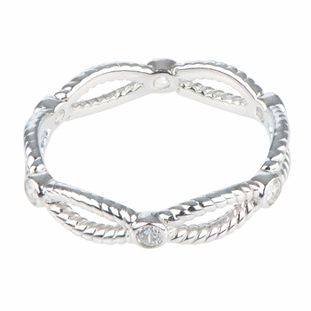 Dahlia's Twisted CZ Stackable Eternity Band