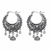 Daisy's Boho Tribal Half Moon Hinged Hoop Earrings