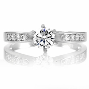 Daisy's Fake Engagement Ring - CZ Diamond