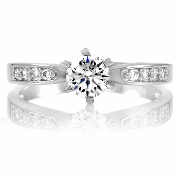Daisy's Silvertone Engagement Ring