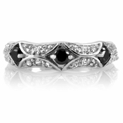 Danni's Black CZ Stackable Ring
