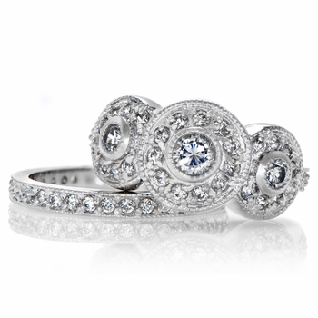Darla's Vintage Wedding Ring Set