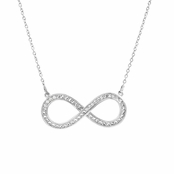 Darlene's Round Cut CZ Infinity Necklace