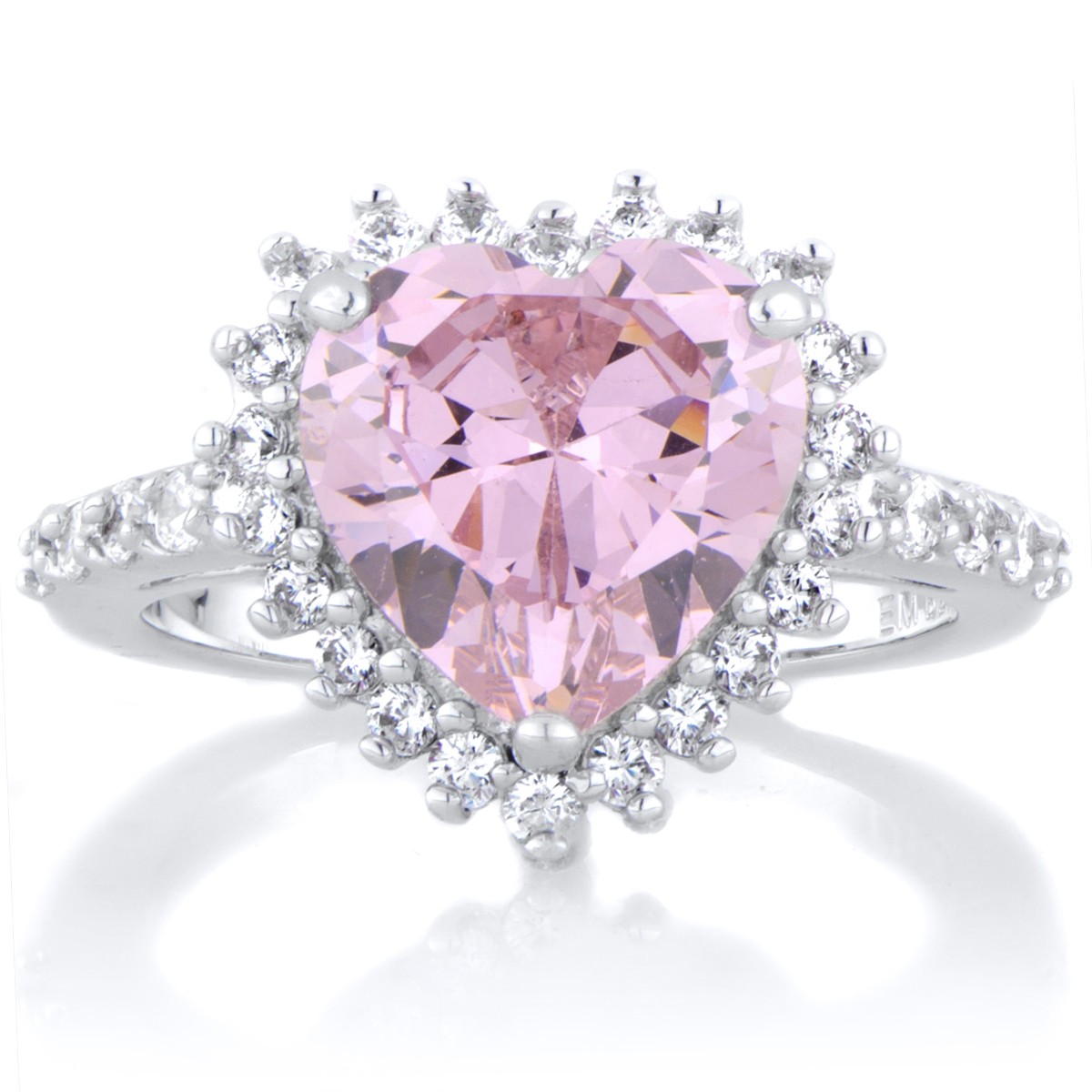 pink heart shaped diamond engagement ring – IsDiamonds