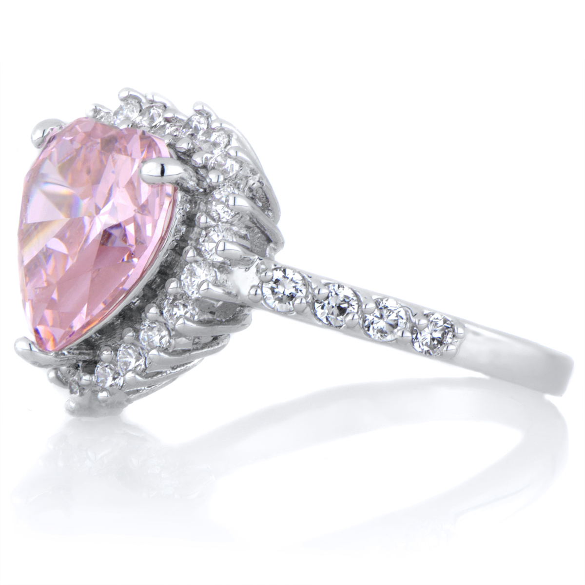 Darling s Pink Heart Shaped Engagement Ring