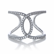 Davan's Sterling Silver CZ Loop Cocktail Ring