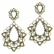 Davena's Vintage Chandelier Earrings - Golden - Final Sale