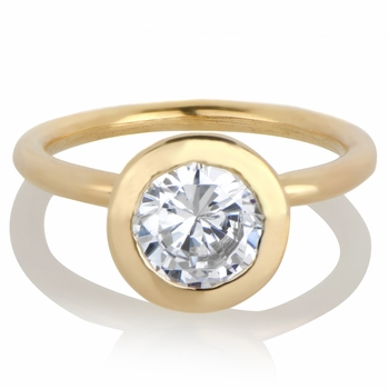 Davina's Round Cut CZ Engagement Ring