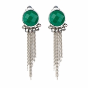 Deirdre's Green Stone Clip-on Earrings