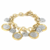 Delia's 7 Inch Coin Charm Toggle Bracelet