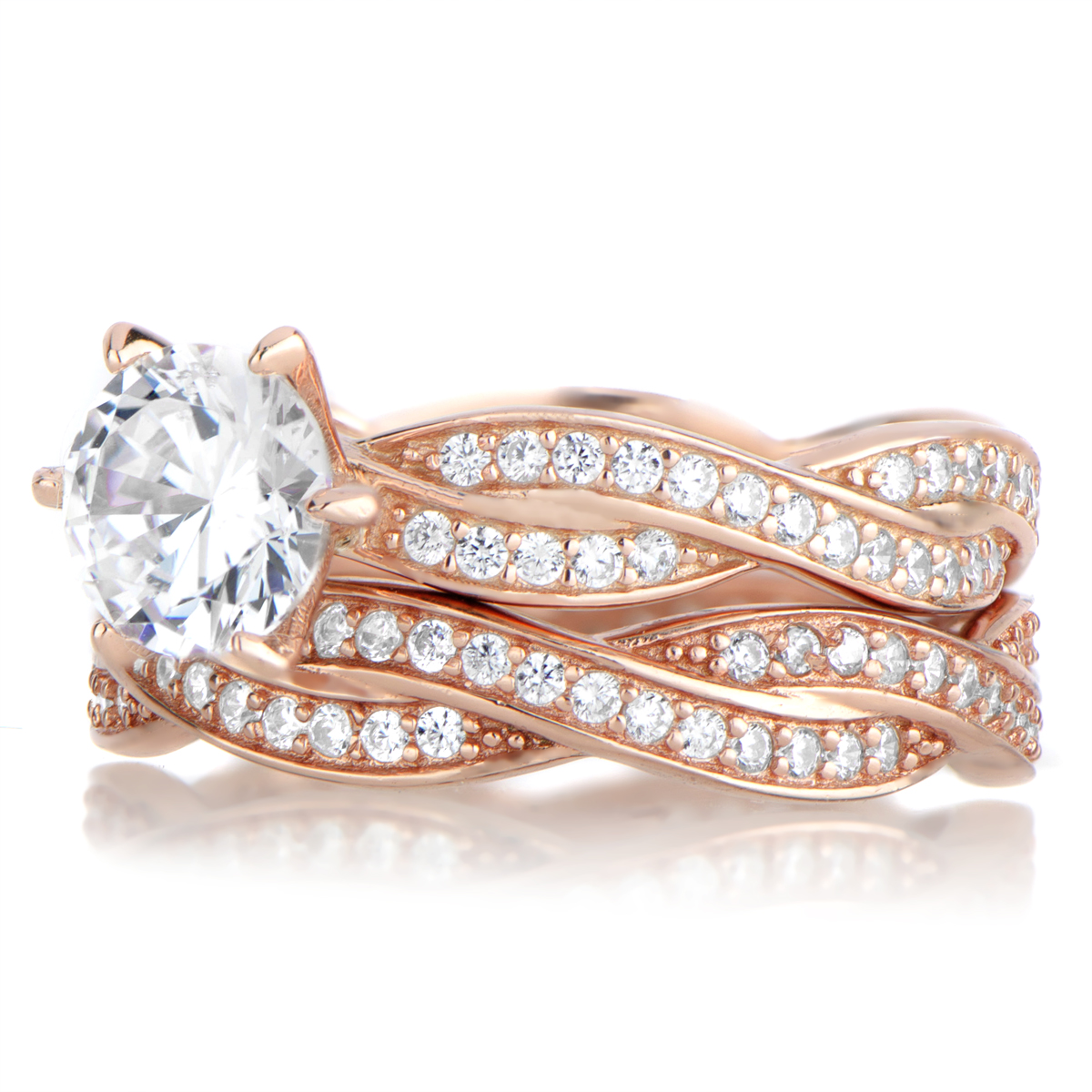 The Most Beautiful Wedding Rings Rose Gold Wedding Rings Sets