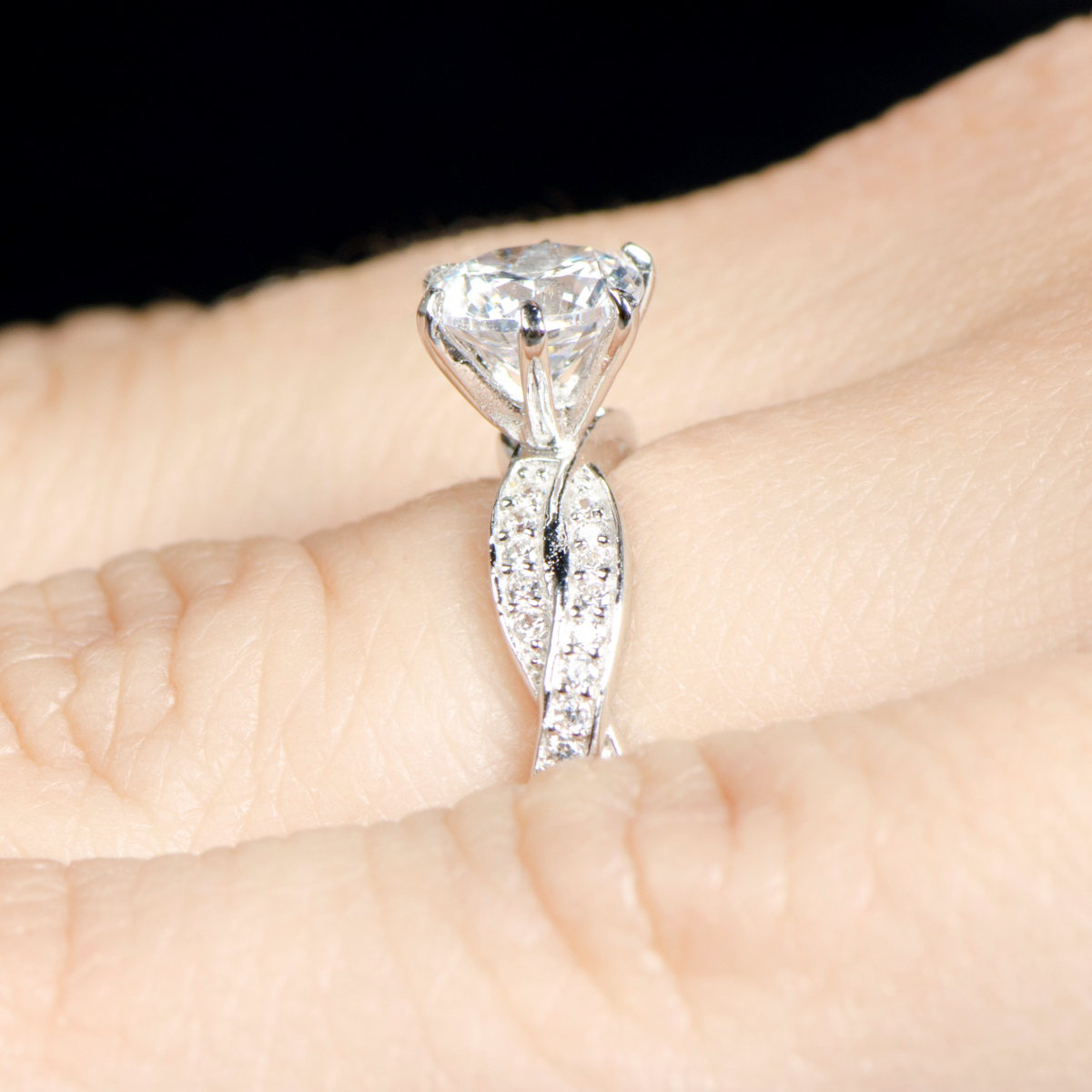 devera s twisted cz engagement ring