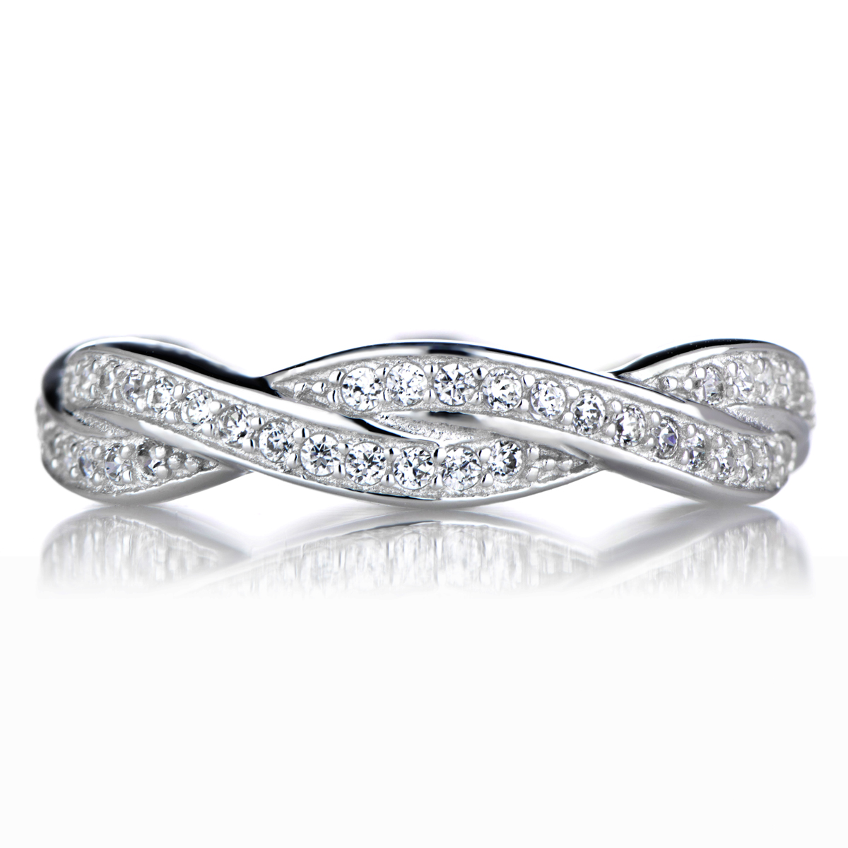 devera s twisted cz wedding band