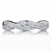 Devera's Twisted CZ Wedding Band
