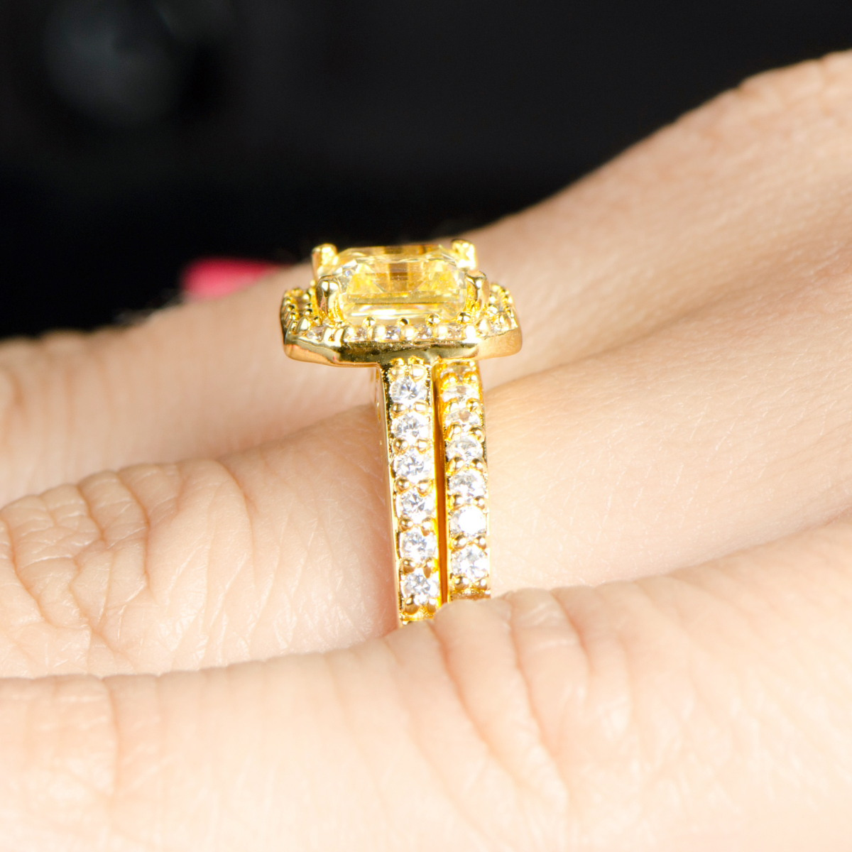 Faux Wedding Rings Sets In Gold Wedding Rings Sets