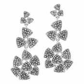 Dido's Flower Earrings - Silver Tone