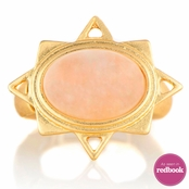 Dika's Pink Opal Star Stretch Ring