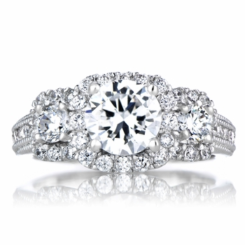 Dominika's 3 Stone CZ Engagement Ring