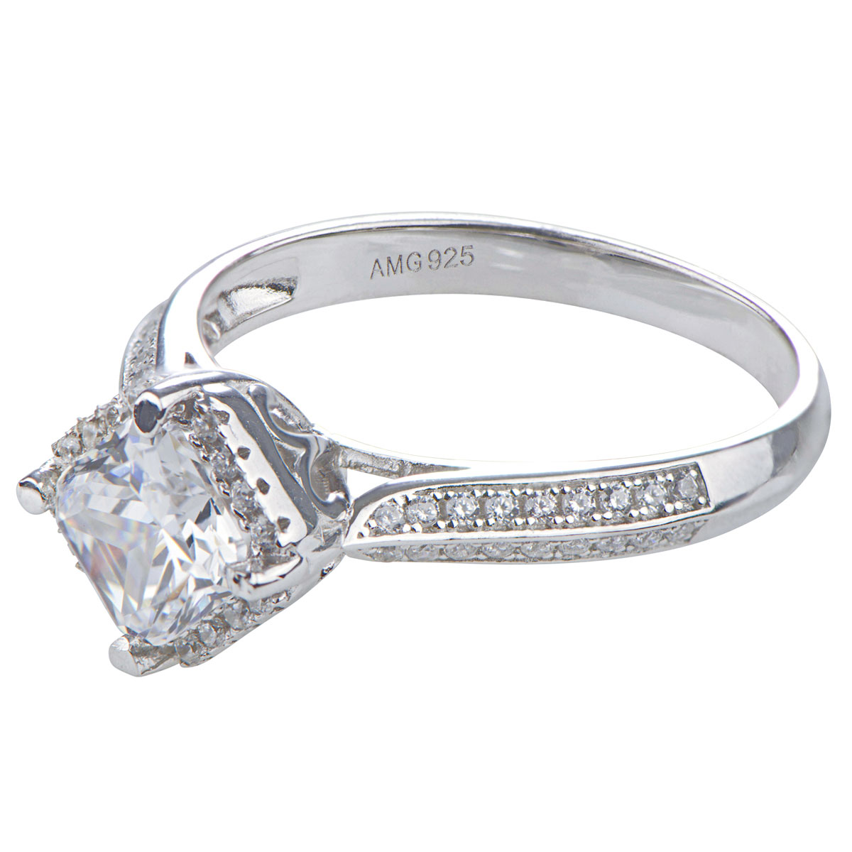 doreen s princess cut halo cz engagement ring