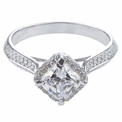 Doreen's Princess Cut Halo CZ Engagement Ring